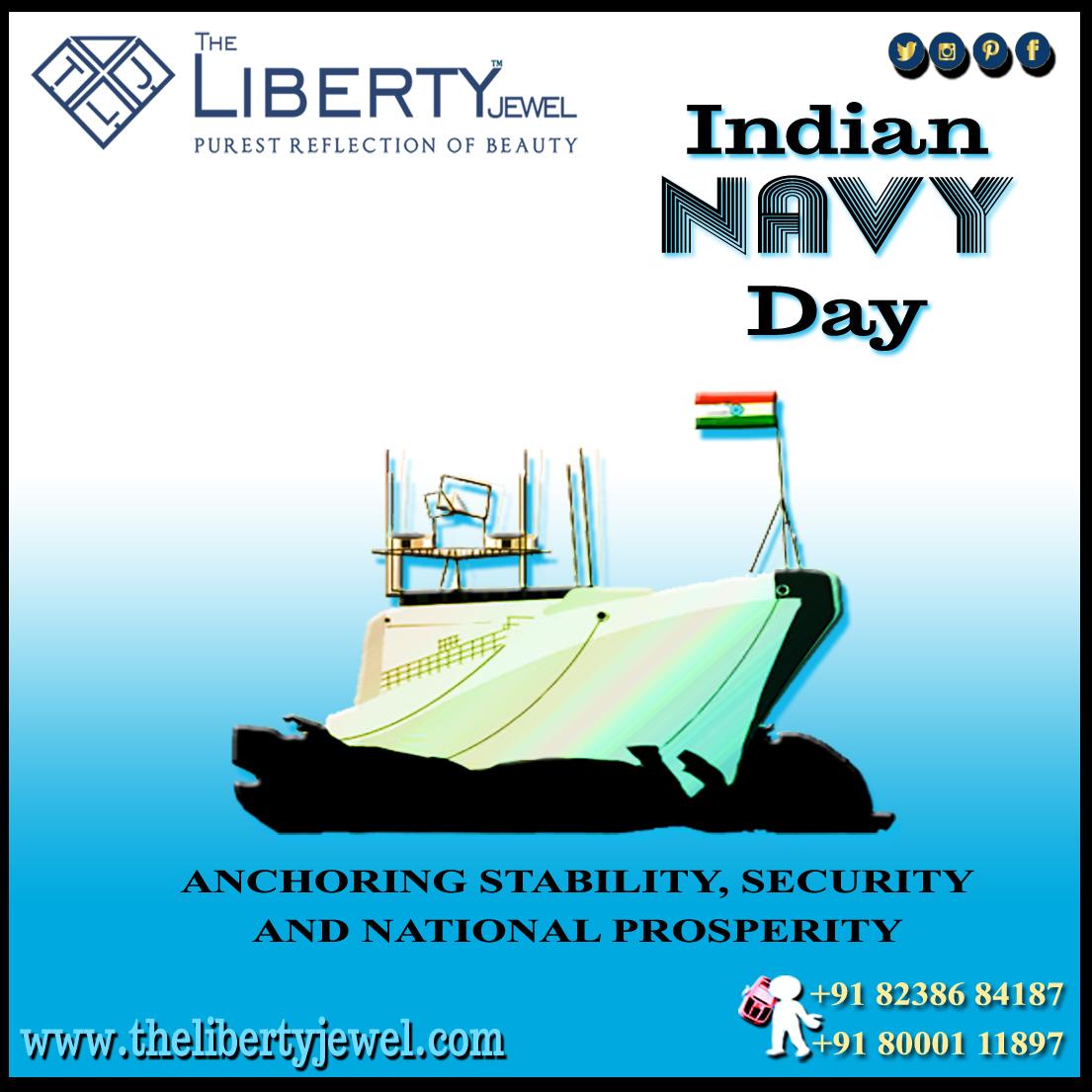 Indian Navy Day Indian Navy Day Navy Day Large Jewelry