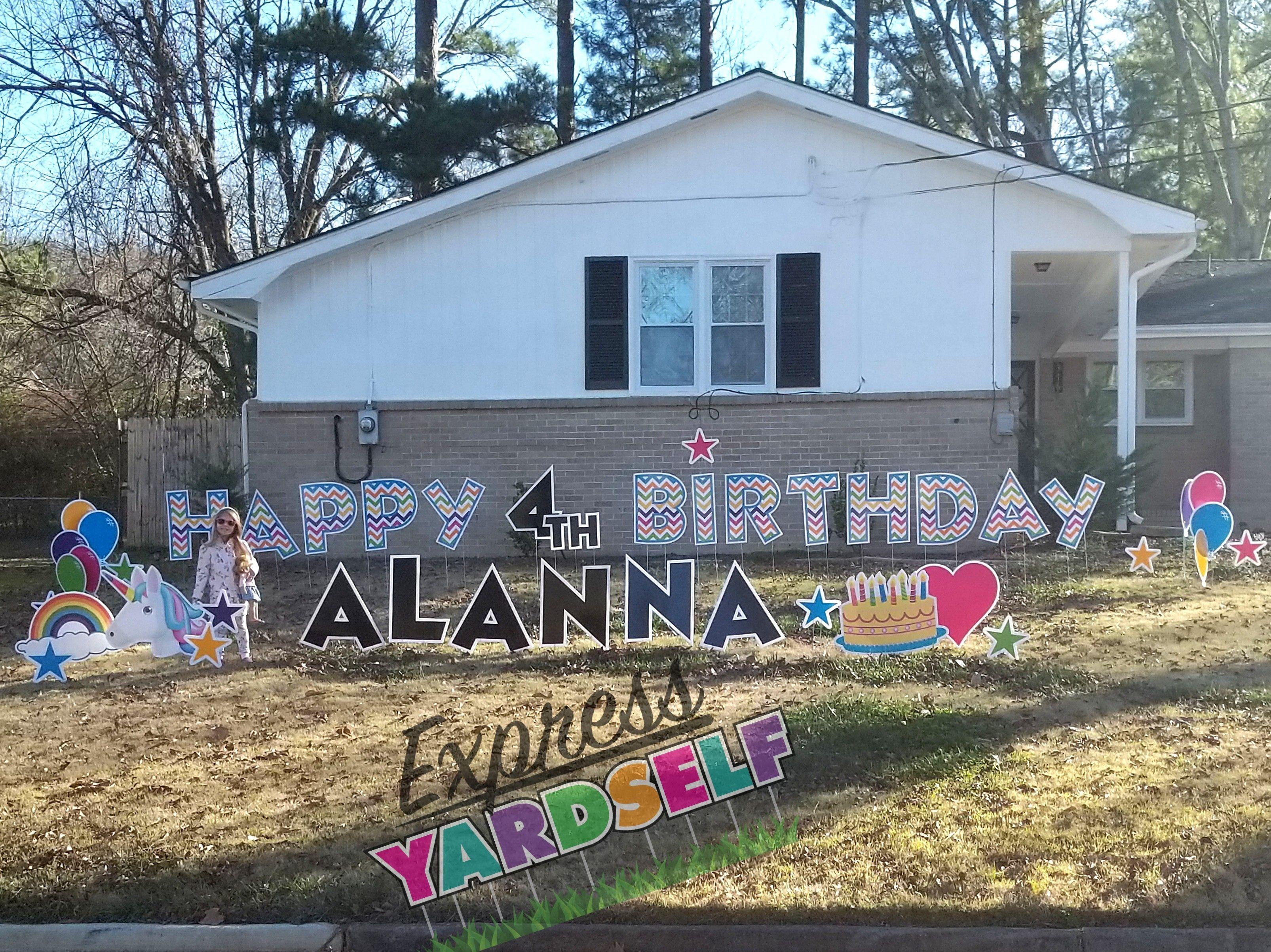 Kids Birthday Ideas FUN Celebration Rental Party Graduation Retirement Anniversary Yard Greeting Card Huntsville AL