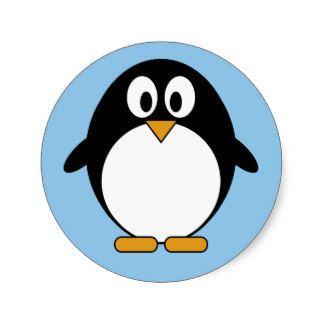 Dibujo Animado Lindo De Kawaii Del Pinguino Pegatina