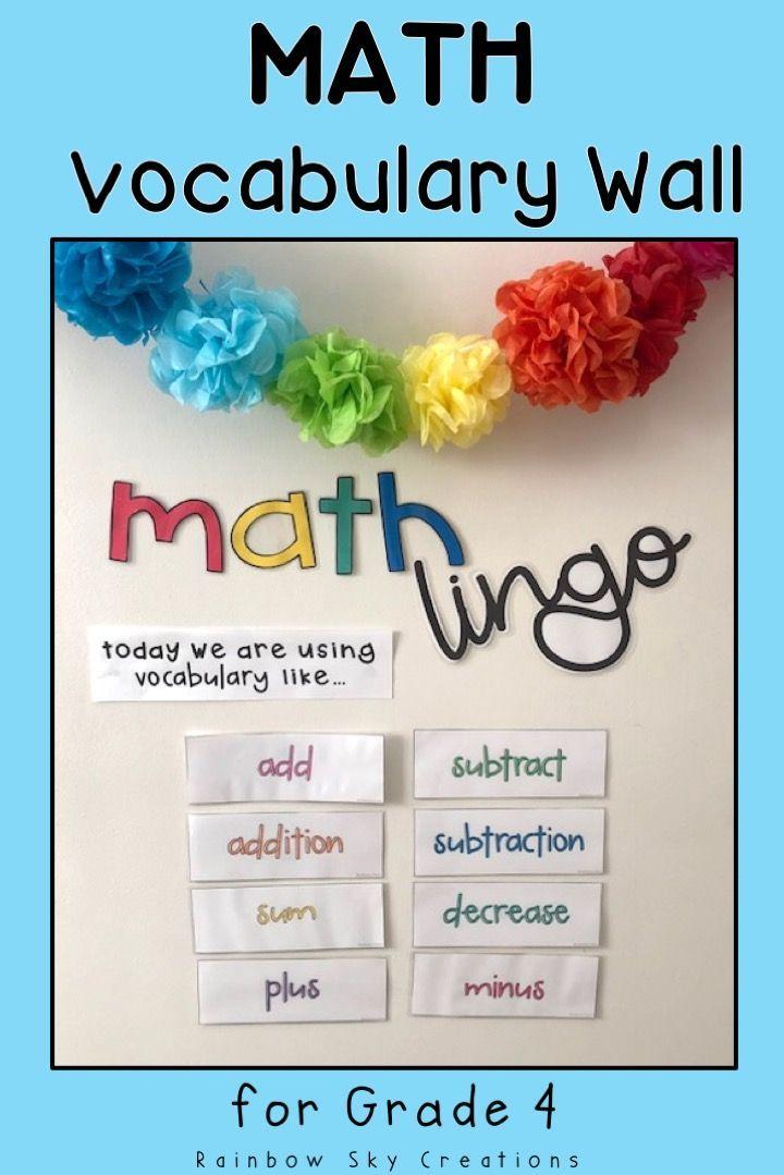 Grade 4 Math Vocabulary cards / Maths language / Australian ...