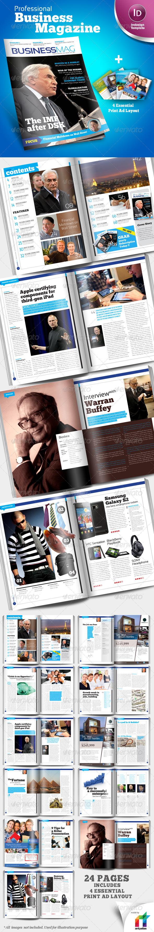 Profesional business magazine indesign template magazine world profesional business magazine indesign template friedricerecipe Images
