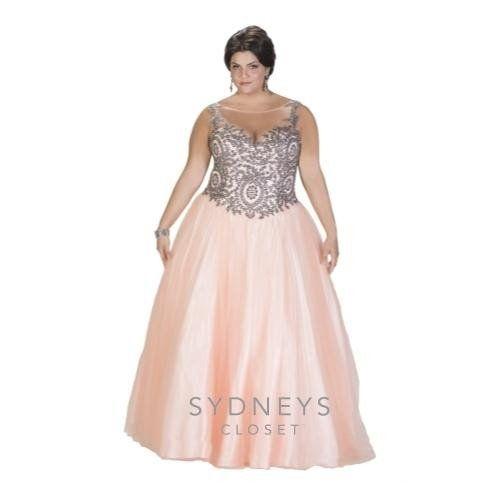 Sydney\'s Closet Tease Prom Dress #SC7204 Sherbet (Peach) Dress size ...