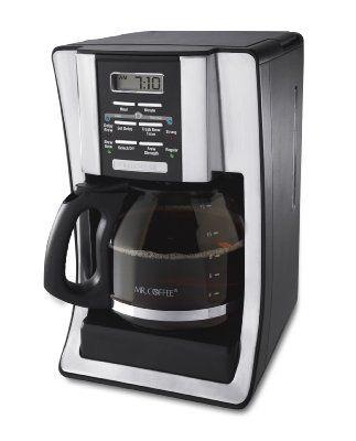 Mr. Coffee BVMC-SJX33GT 12-Cup Programmable Coffeemaker, Chrome:Amazon:Kitchen & Dining
