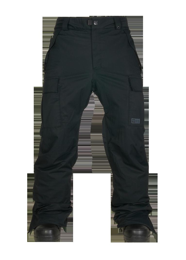 c3632c5027 686 Mens Snowboard Pants Authentic Infinity Cargo Black Herringbone ...