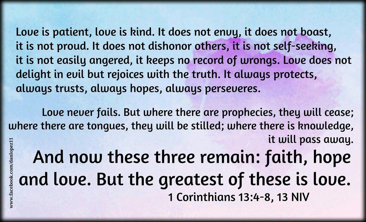 1 corinthians 13 4 8 13 niv faith and inspiration pinterest