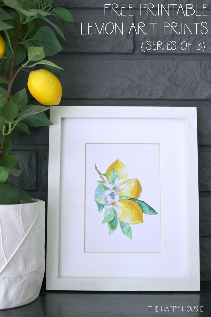Home Interior Loft Series of 3 Free Printable Watercolour Lemon Art Prints | The Happy Housie | Gorgeous spring printables for your kitchen or living room that brighten any home decor space with color! #printables #lemon #watercolor.Home Interior Loft  Series of 3 Free Printable Watercolour Lemon Art Prints | The Happy Housie | Gorgeous spring printables for your kitchen or living room that brighten any home decor space with color! #printables #lemon #watercolor