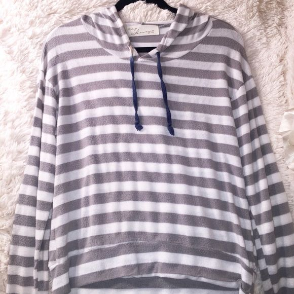 Striped hoodie Listed as Francesca's only so people can see listing. Got from local boutique. No trades/fast shipping Francesca's Collections Tops