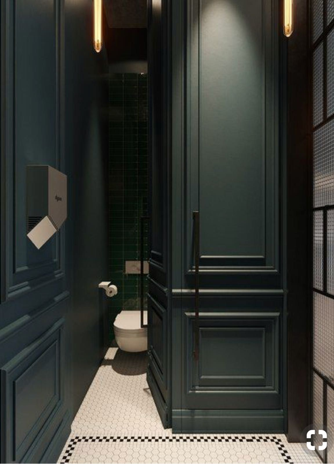 Pin By Sharon Corona On Bar Modern Powder Rooms Powder Room Design Green Bathroom