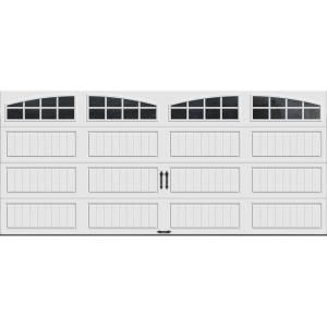 Ordinaire Clopay Gallery Collection 16 Ft. X 7 Ft. 18.4 R Value Intellicore Insulated  White Garage Door With Arch Window