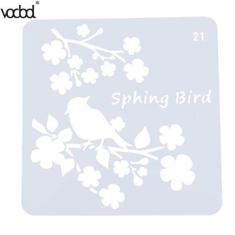 8pcs//set Decorative Scrapbooking Flower PaintingTemplate Layering Stencils