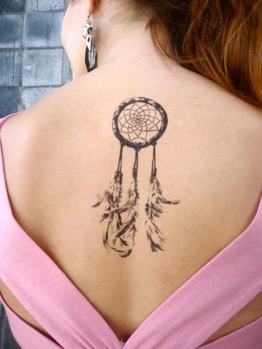 Tatuaje De Atrapasueños En La Espalda Tatuajes Tatuajes