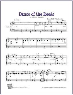 Dance Of The Reeds Nutcracker Sheet Music Piano Sheet Music
