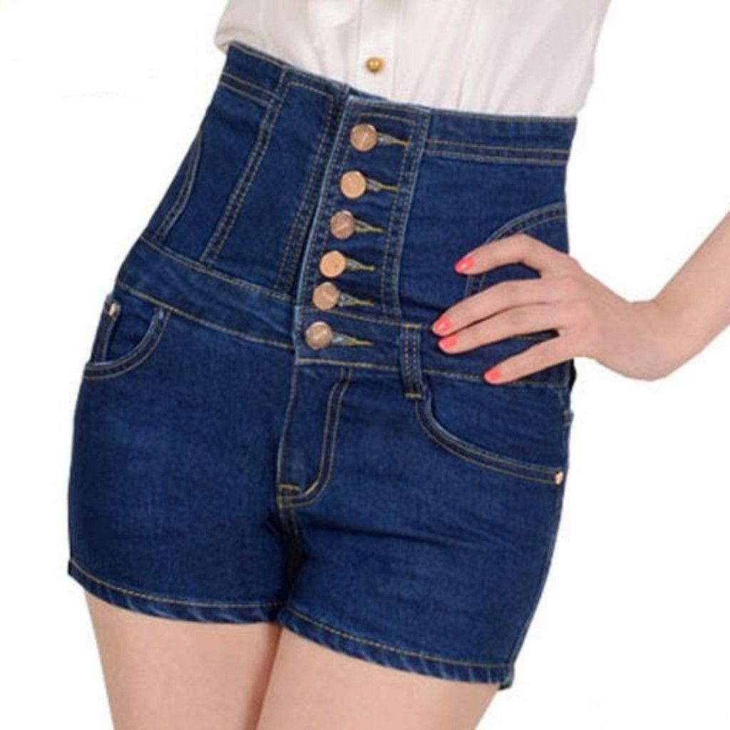 Look - Waisted high jean shorts designs video