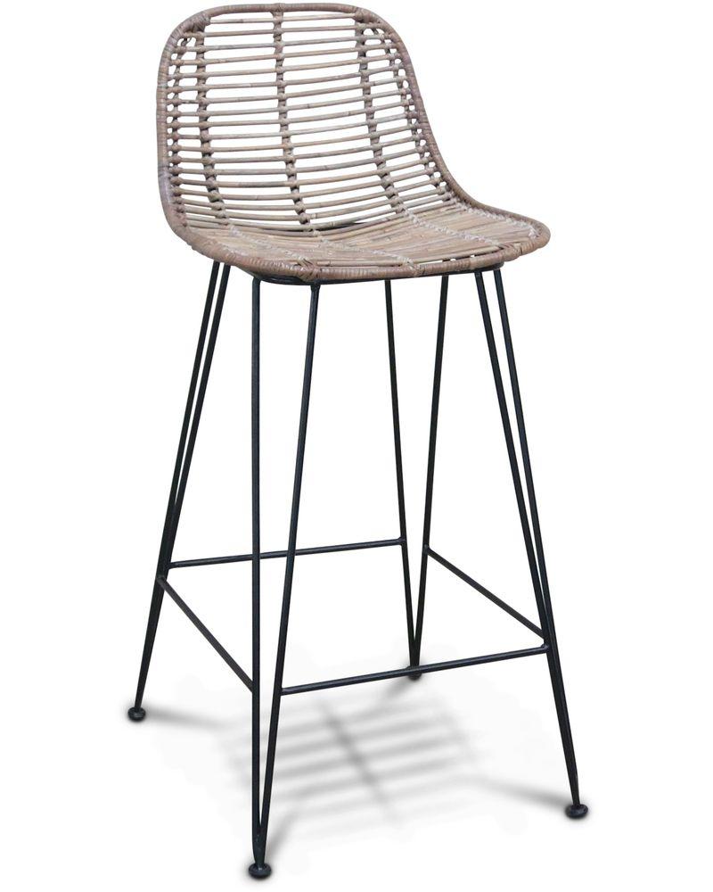 Incredible Hampton Bar Stool Black 66Cm Cintesi Kitchen Bar Dailytribune Chair Design For Home Dailytribuneorg