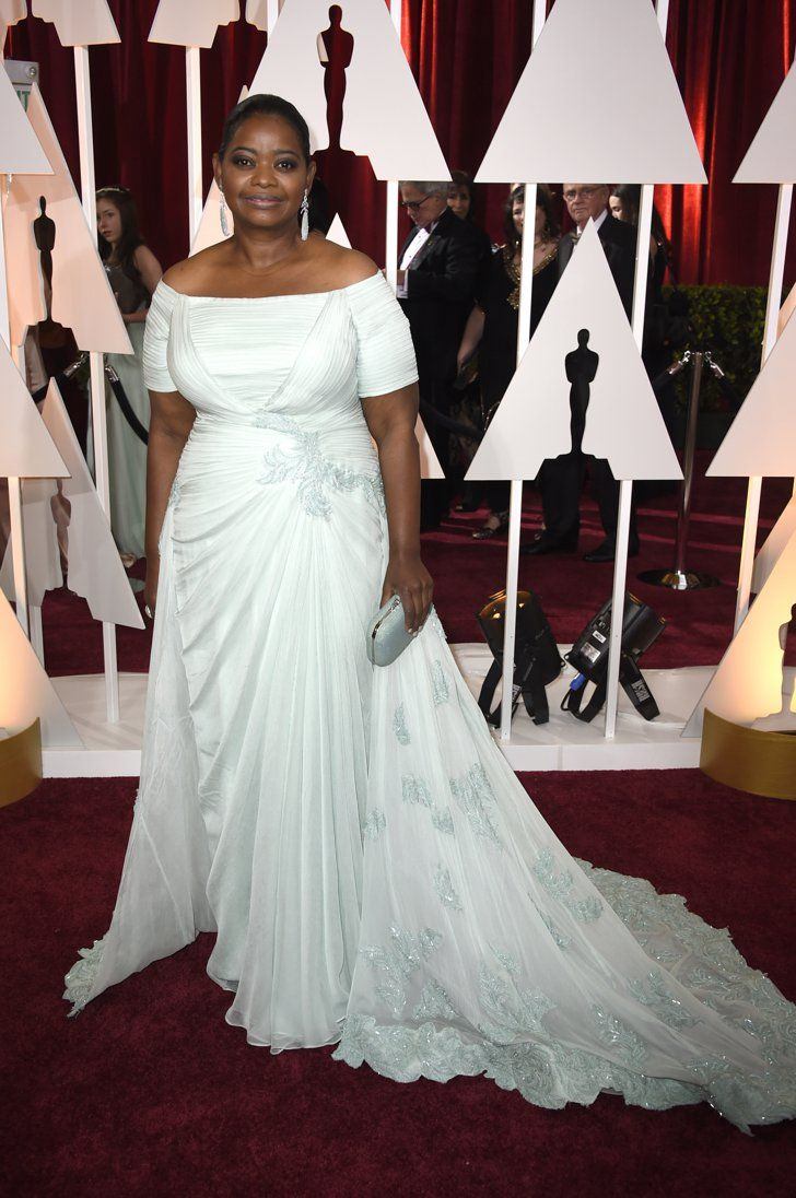 8a8faa0e34074 Pin for Later  These Oscars Looks Will Have You Counting the Hours Till the  Red Carpet Octavia Spencer Octavia Spencer pulled back her hair and let her  ...