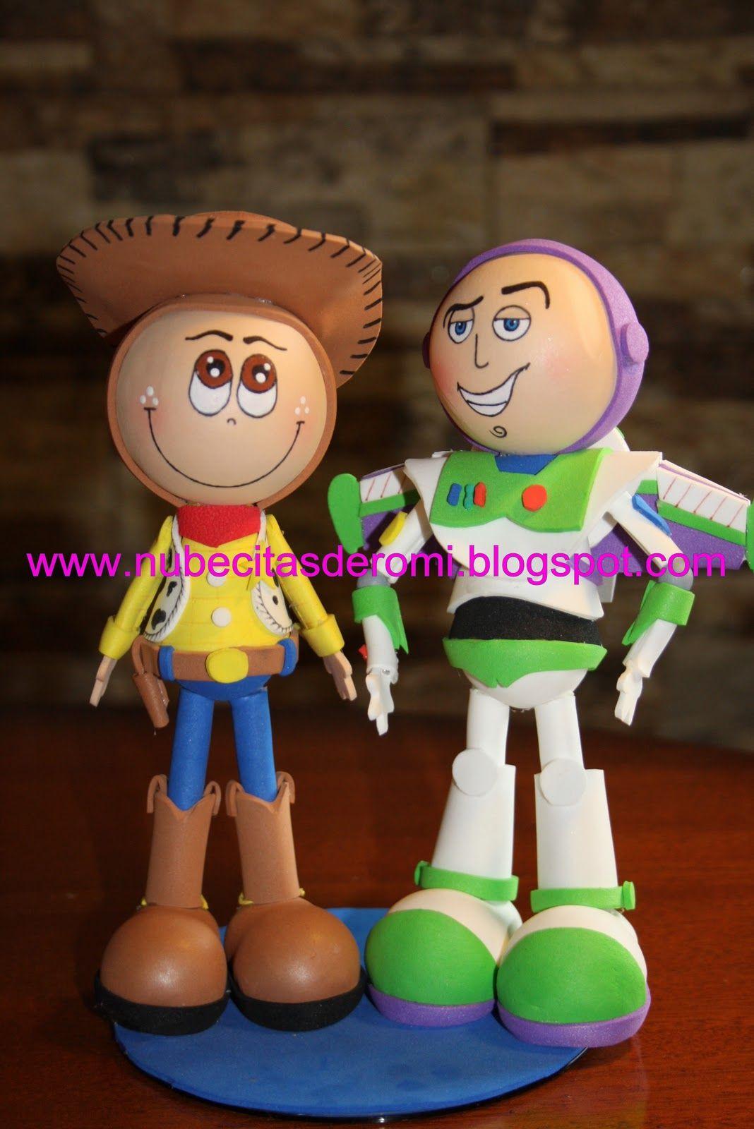 Nubecitas De Romi Buzz Y Woody Fofuchos 3d Goma Eva Fofuchas Muñecas Goma Eva Manualidades Con Goma Eva