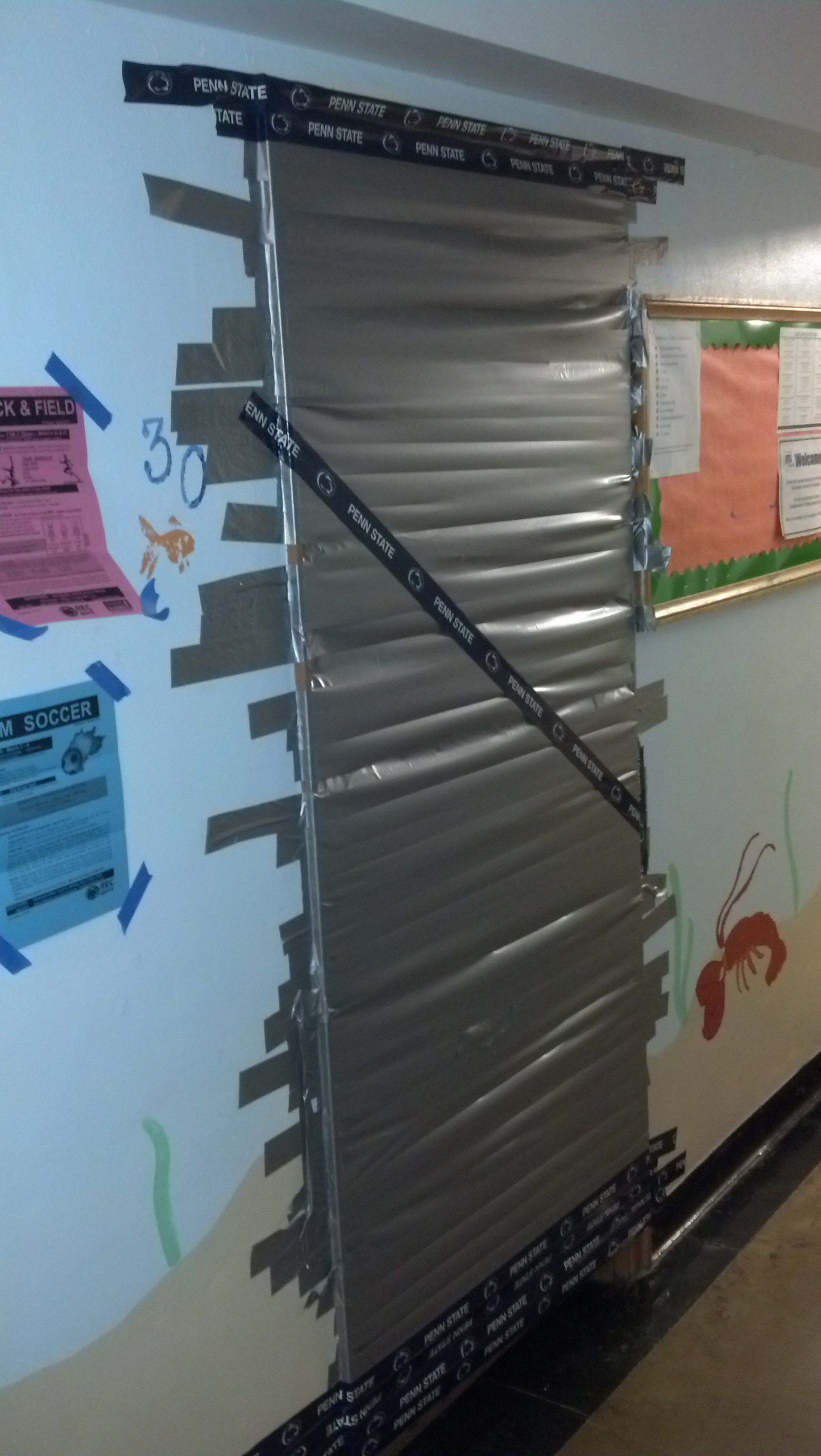 Somebody Duct Taped My Ras Door Shut Last Night Funny Pictures Duct Tape Duct