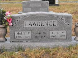 Fred Newton Lawrence 1907-1977 Marie Tennessee Alfrey 1905-1992