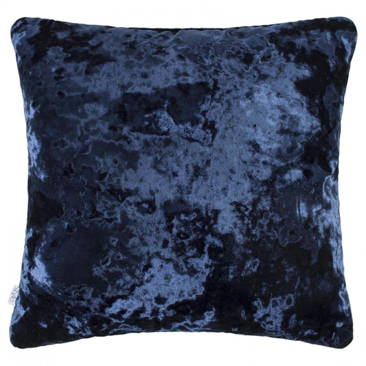 Style Merlin Faux Crushed Velvet Feather Filled Cushion - Sapphire ...