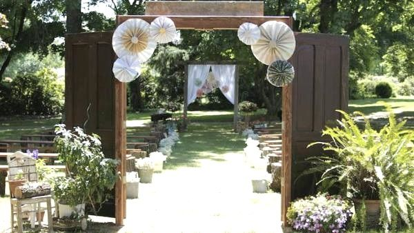 Best Outdoor Wedding Entrance Ideas Garden Wedding Decoration