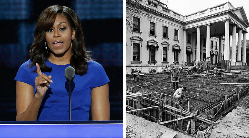 Just one more lie......No, Michelle…The White House Was NOT Built by Slaves. THESE Are The FACTS!