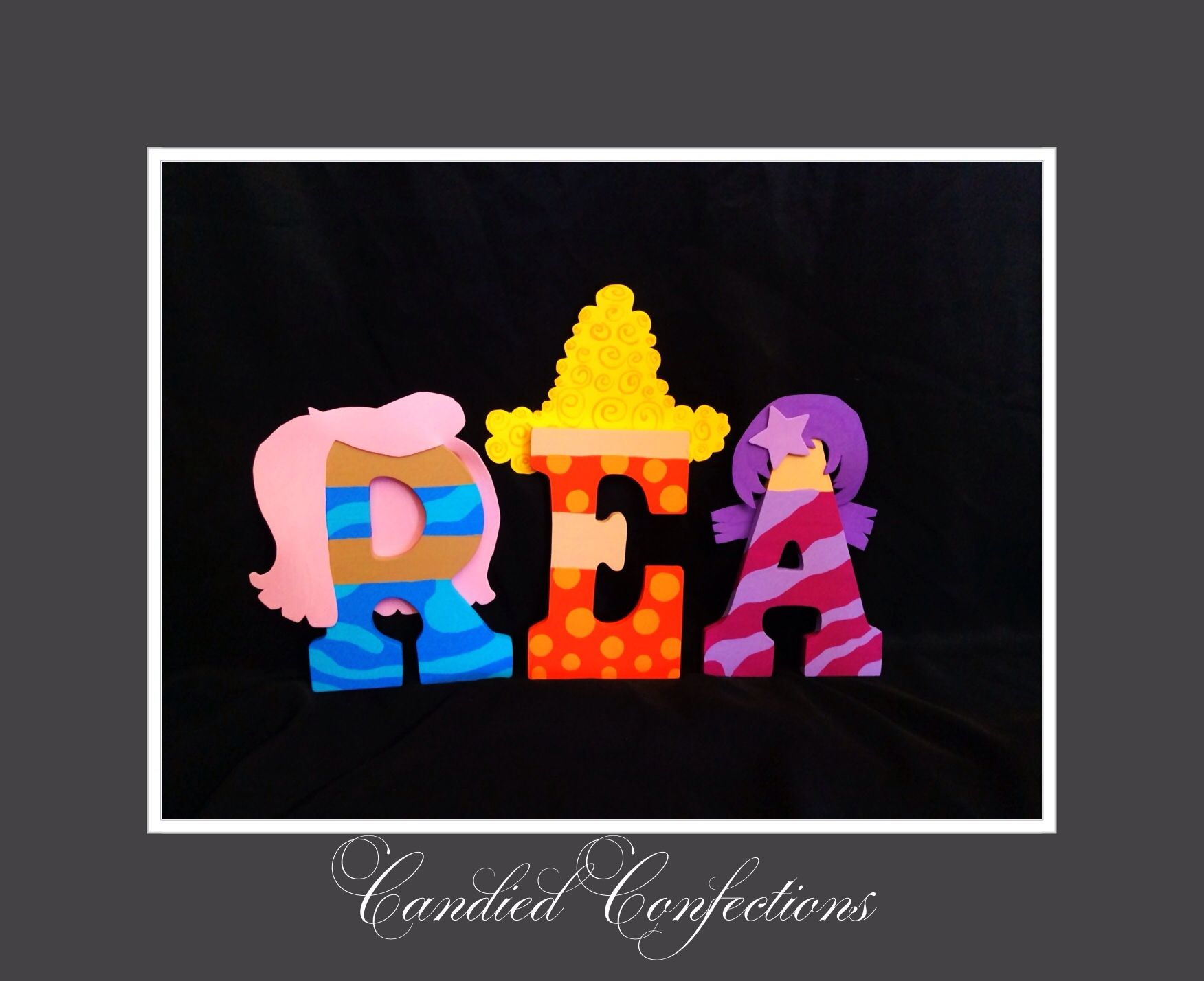 Bubble guppies letters | Candied Confections wood letters ...