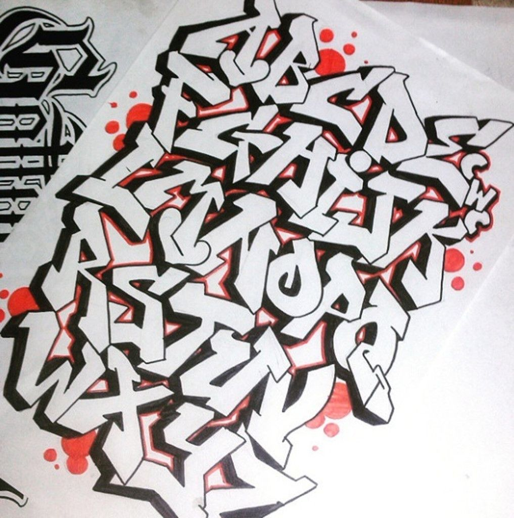 Graffiti alphabet letters graffiti alphabet letter a z
