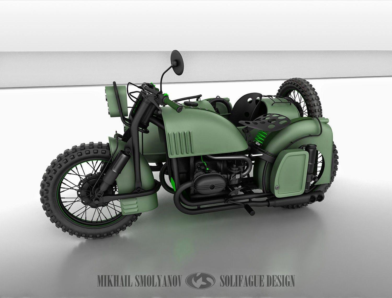 Cool sidecar concept by Mikhail Smolyanov