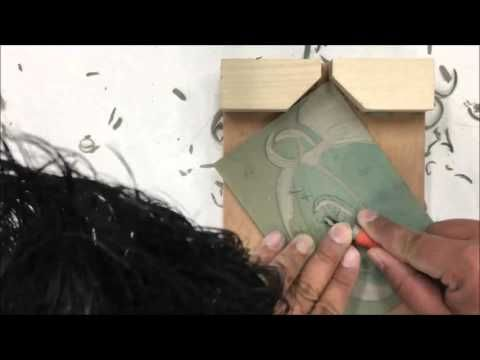 Printmaking - Pop art lino prints in the style of Andy Warhol - YouTube