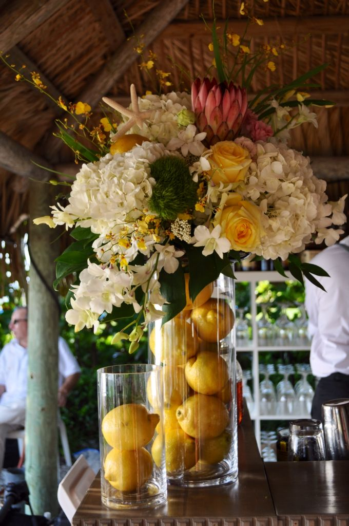 Bar Fl Arrangement For Florida Lemon Themed Beach Wedding