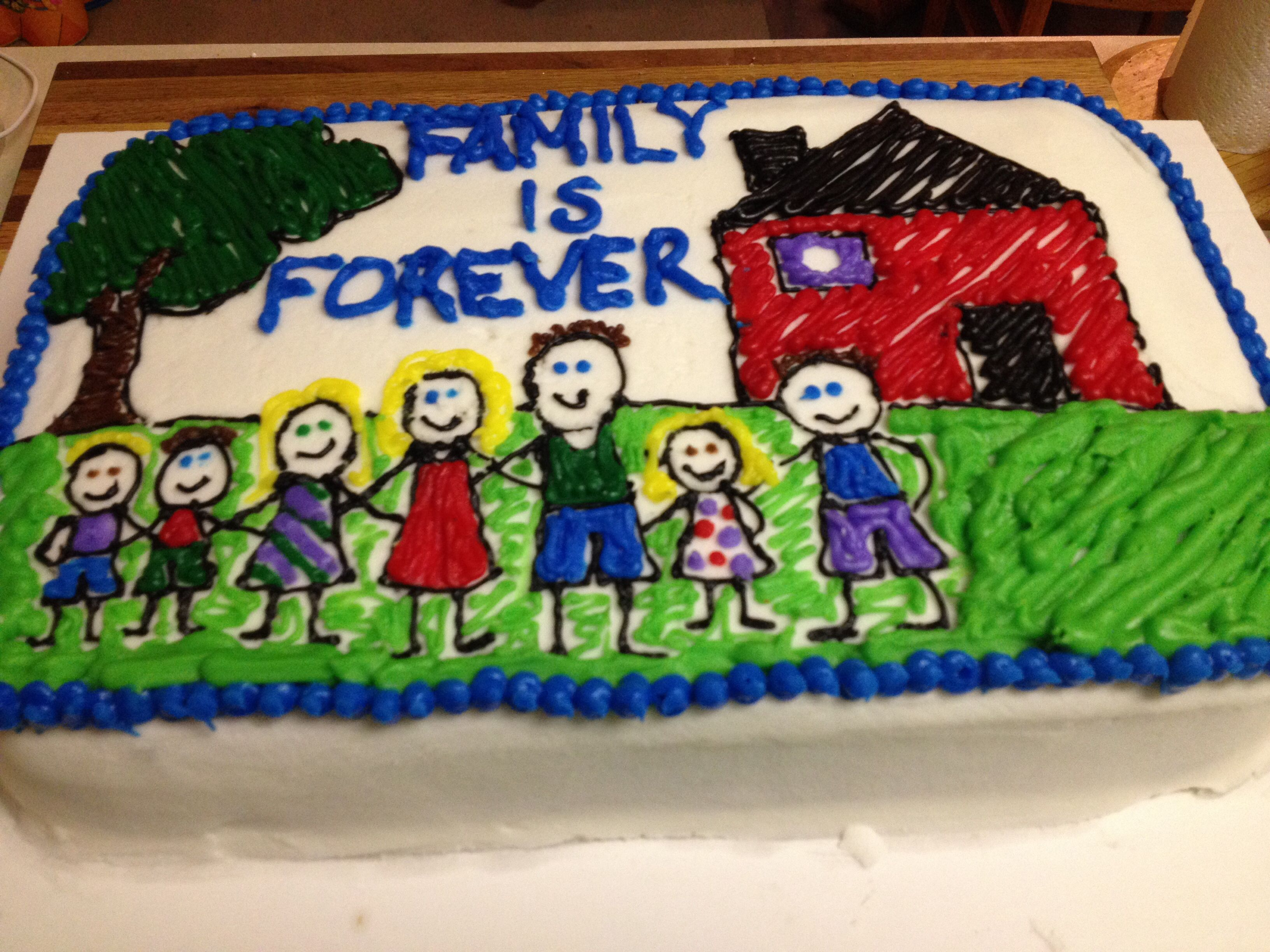 Family Is Forever Adoption Celebration Cake By Katie S Cakes