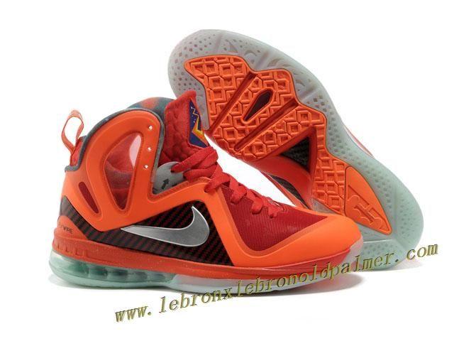 d4c54bbd9e8 Nike LeBron 9 P.S. Elite Red Orange Grey