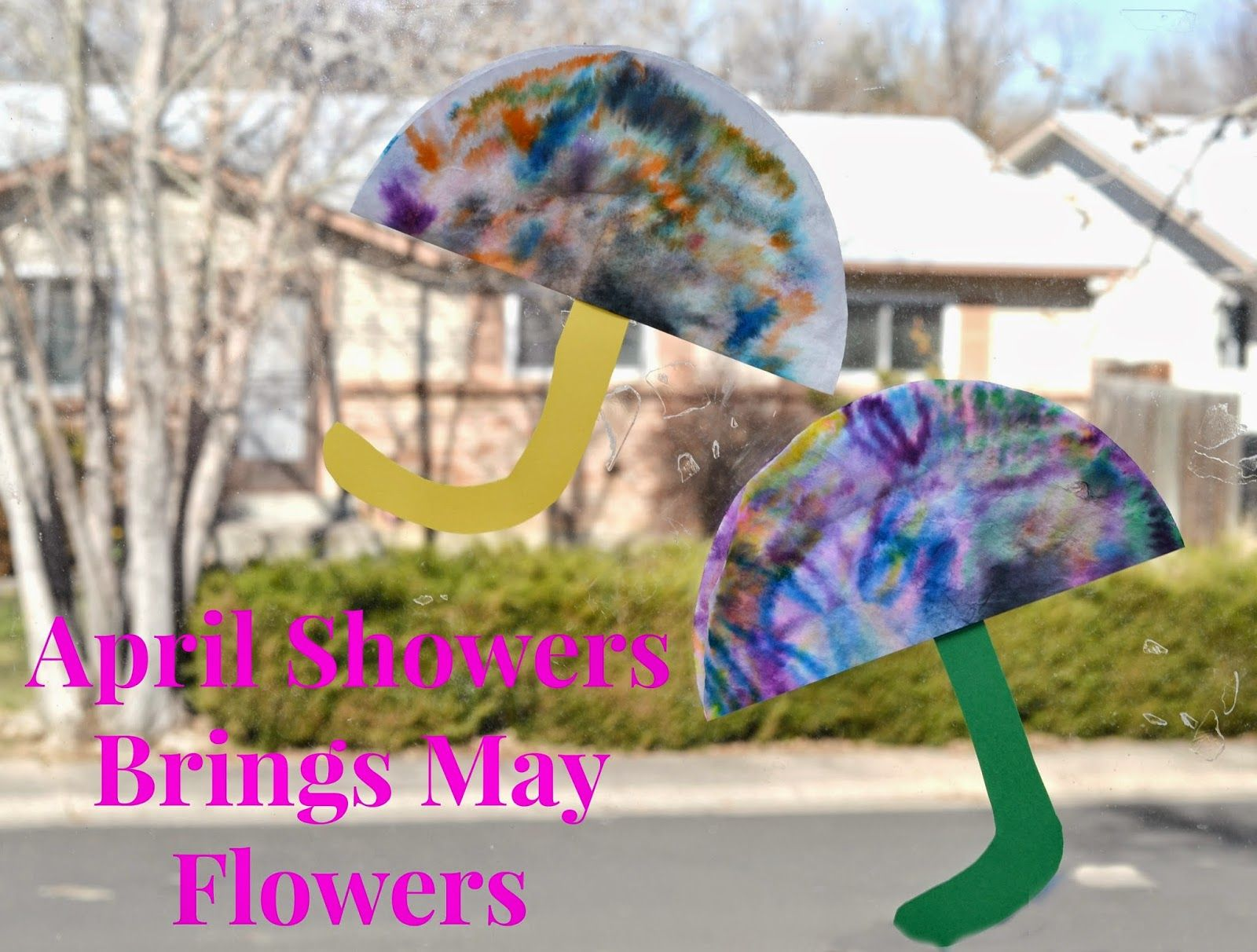 Umbrella Craft Ideas For Kids Part - 29: April Showers Brings May Flowers Coffee Filter Craft