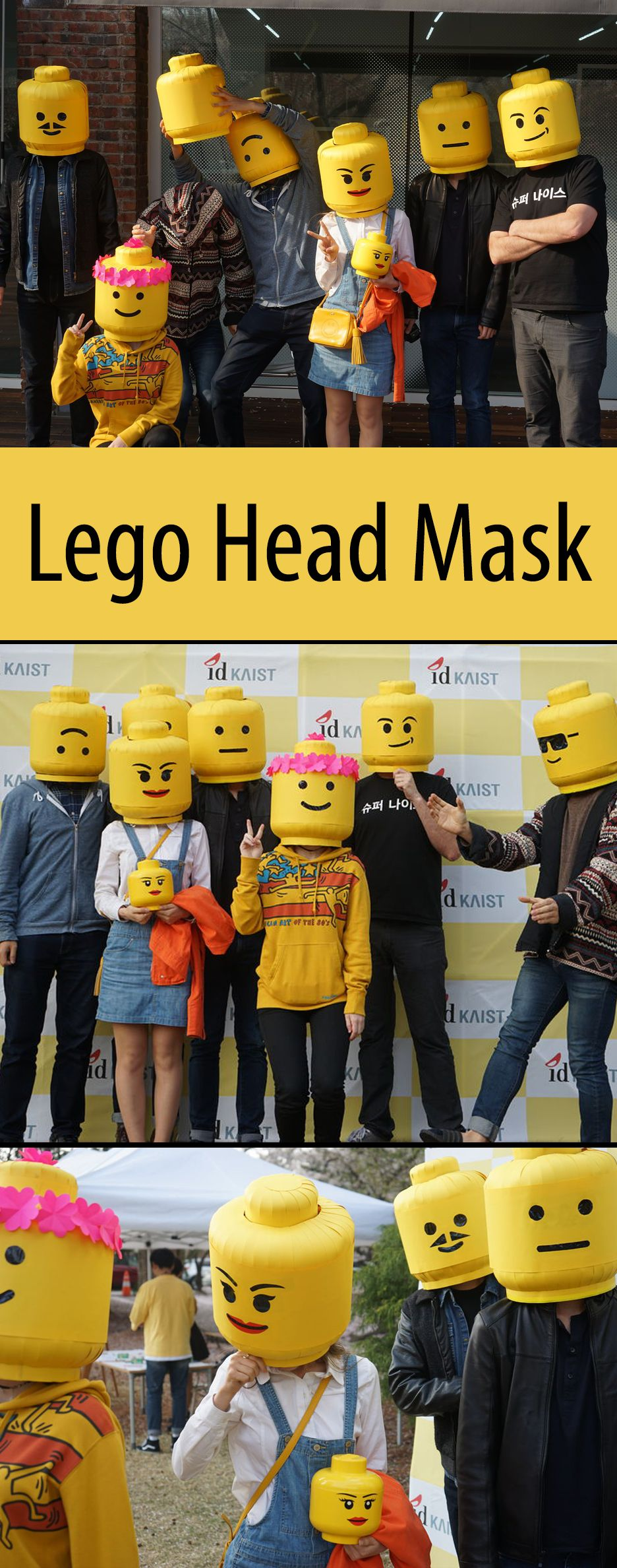 lego man head mask cosplay tutorial pinterest kost m lego kost m und fasching. Black Bedroom Furniture Sets. Home Design Ideas