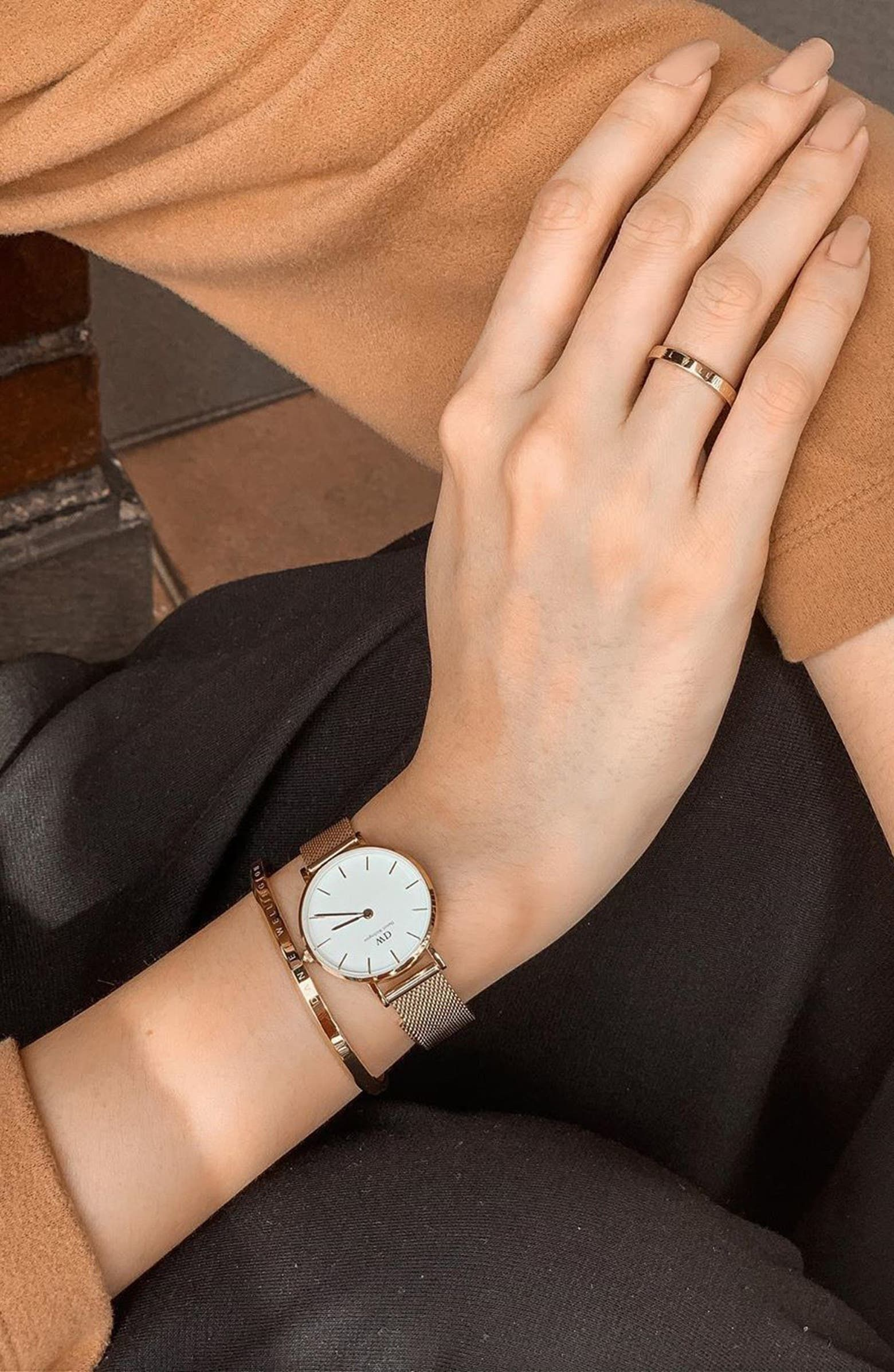 Petite Evergold Mesh Strap Watch, 28mm & Bracelet