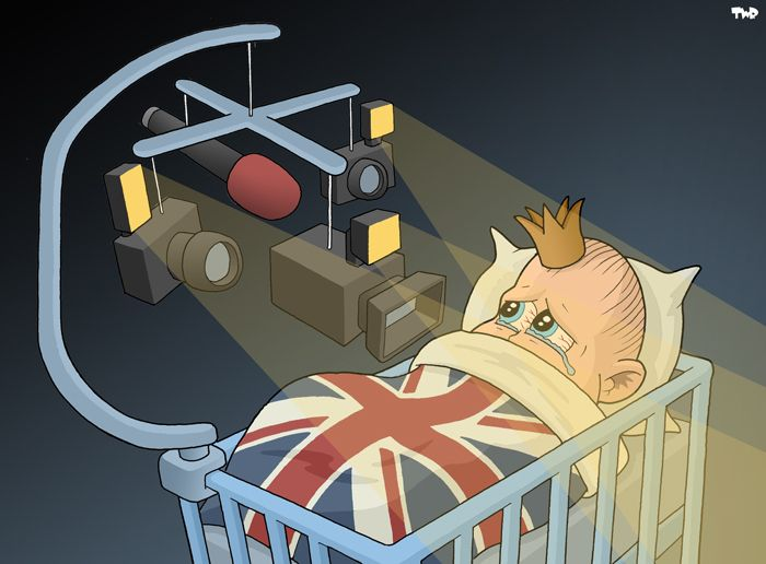 The royal baby, headed for a life in the media spotlight.