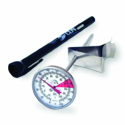 CDN IRTL220 Proaccurate Insta Read Beverage and Frothing Thermometer ** Click on the image for additional details.