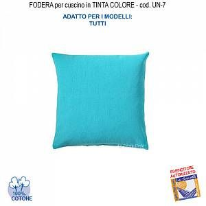 Photo of Federa In Tinta Per Cuscino Colore Celeste Un-7 (Fs)