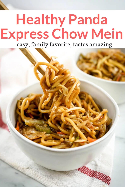 healthy chow mein panda express copycat  recipe