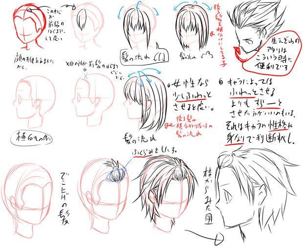 髪 描き方 男 Google 検索 教程 髪 描き方 描き方 漫画イラスト