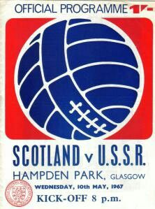 Scotland 0 USSR 2 in May 1967 at Hampden Park. Programme cover #Friendly
