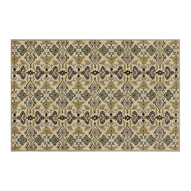 Delphine Sage Wool 6 X9 Rug Crate And Barrel Entry