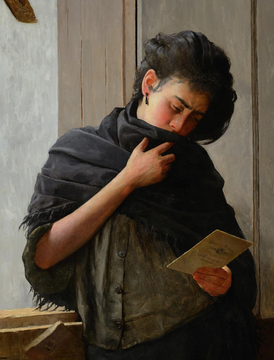 Saudade Longing Canvas Print 1899 Museum Art José Ferraz de Almeida Júnior