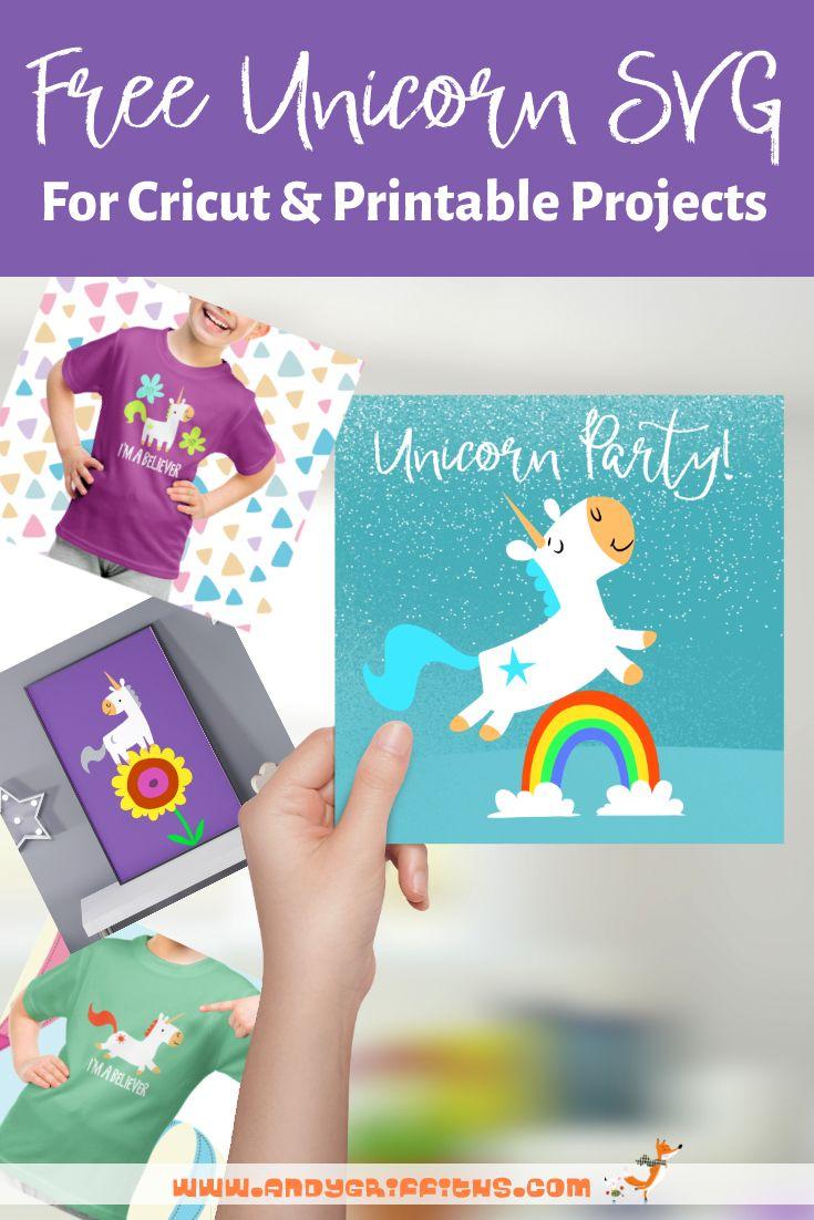 Free unicorn svg file for cricut cricut birthday cards
