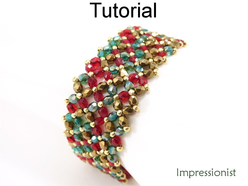 seed beads bracelet bead easy patterns for making glass pattern free guide beaded