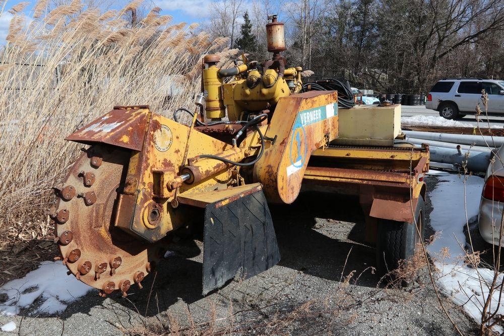 Item 1 1973 Vermeer 2460a Stump Grinder S N 399 Runs Needs Grinder Wheel Bearing Vehicle Tr 16 Stump Grinder Pleasant Valley 2008 Ford Ranger