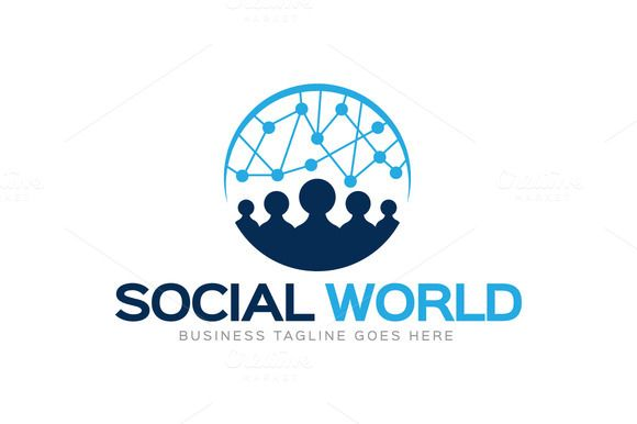 check out social world logo by logolabs on creative market