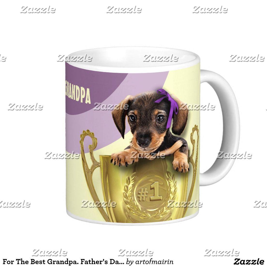For the best grandpa funny puppy design fatherus day birthday