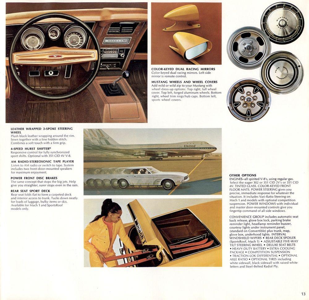 Ford  Mustang Sales Brochure  Options  S Era Mustangs