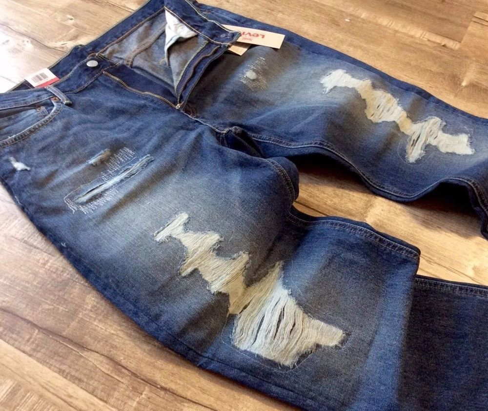 Levi's Levis Men Distressed Ripped Repaired Shredded